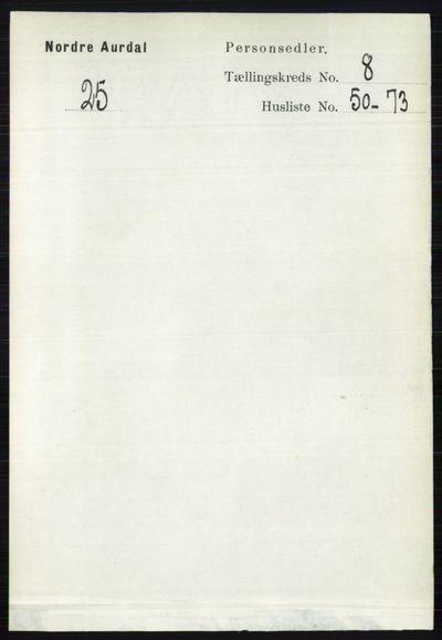 Image from object titled Folketelling 1891 - Nord-Aurdal - personsedler - side 3088