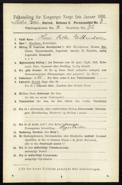 Image from object titled Folketelling 1891 - Nedre Eiker - personsedler - side 923