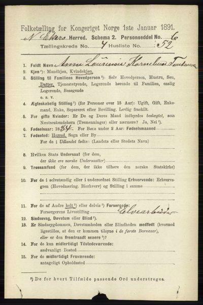 Image from object titled Folketelling 1891 - Nedre Eiker - personsedler - side 2230