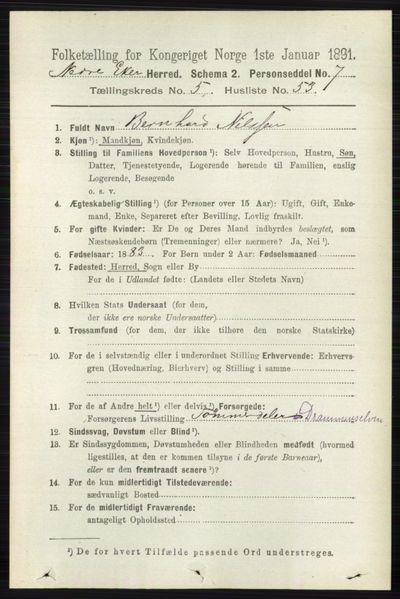 Image from object titled Folketelling 1891 - Nedre Eiker - personsedler - side 2653