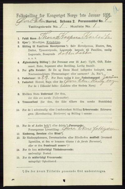 Image from object titled Folketelling 1891 - Øvre Eiker - personsedler - side 136
