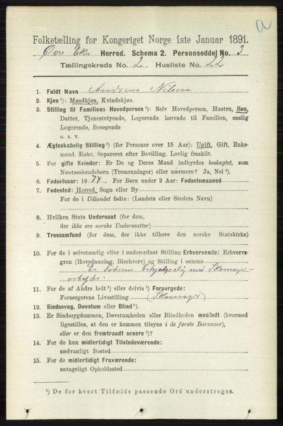 Image from object titled Folketelling 1891 - Øvre Eiker - personsedler - side 660