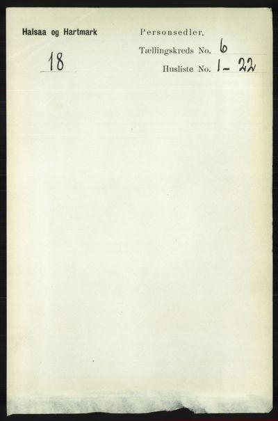 Image from object titled Folketelling 1891 - Halse og Harkmark - personsedler - side 2370