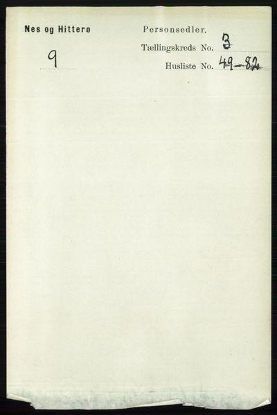 Image from object titled Folketelling 1891 - Hidra og Nes - personsedler - side 1155