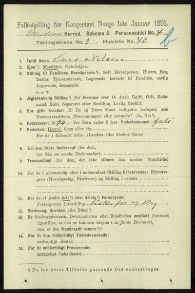 Image from object titled Folketelling 1891 - Skudenes - personsedler - side 4208