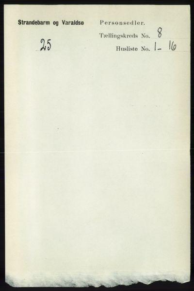 Image from object titled Folketelling 1891 - Strandebarm og Varaldsøy - personsedler - side 2951