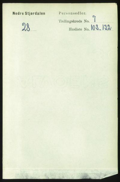 Image from object titled Folketelling 1891 - Nedre Stjørdal - personsedler - side 3577
