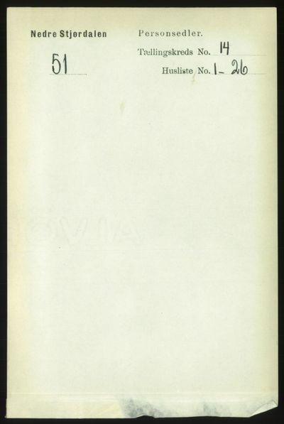 Image from object titled Folketelling 1891 - Nedre Stjørdal - personsedler - side 6550