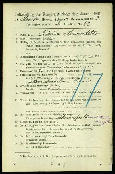 Image from object titled Folketelling 1891 - Meråker - personsedler - side 908