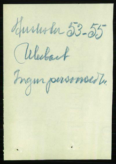 Image from object titled Folketelling 1891 - Kristiania - personsedler - side 72219