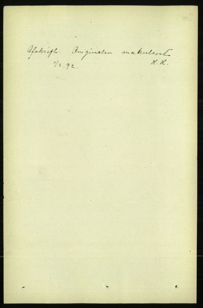 Image from object titled Folketelling 1891 - Kristiania - personsedler - side 76253