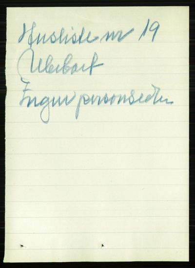 Image from object titled Folketelling 1891 - Kristiania - personsedler - side 156791