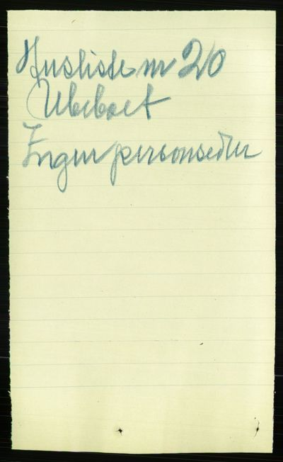 Image from object titled Folketelling 1891 - Kristiania - personsedler - side 172299