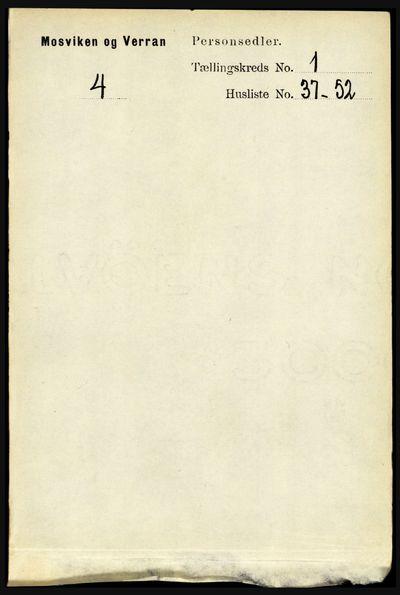Image from object titled Folketelling 1891 - Mosvik og Verran - personsedler - side 317