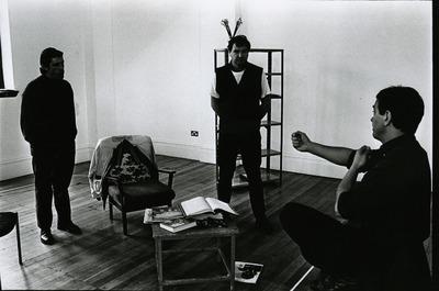 Rehearsal photograph featuring Gary Whelan