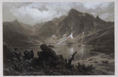 Der große Fischsee in der Hohen Tatra