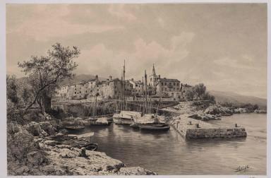 Der Hafen von Lovrana am Quarnero