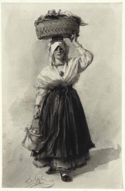 Eine Mandriere - Frau aus der Umgebung von Triest