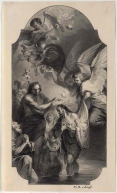 Die Taufe Christi - Altarbild von Martin Johann Schmidt