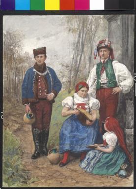 Trachten - Iglauerinnen, Hannake und Jazek (Jazke) aus Jablunkau