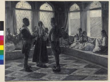 Verschleiern der mohammedanischen Braut - das Ringanstecken