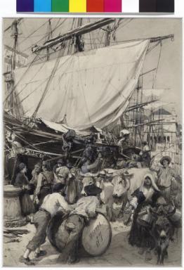 Leben im Hafen (Canal grande) von Triest