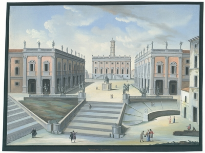 Image from object titled Veduta del Campdoglio
