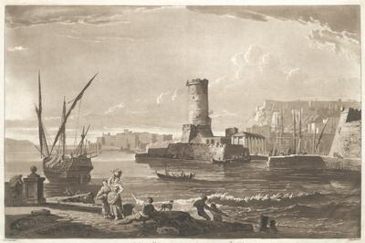 Part of Naples, with the ruind tower of S. Vincent. Vue de Naples avec les debris de la Tour de St. Vincent