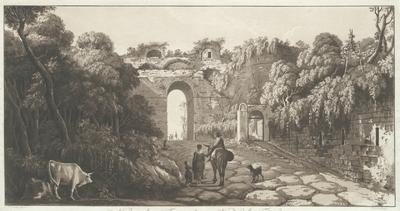 View of Arco Felice. Vue de l'Arco Felice