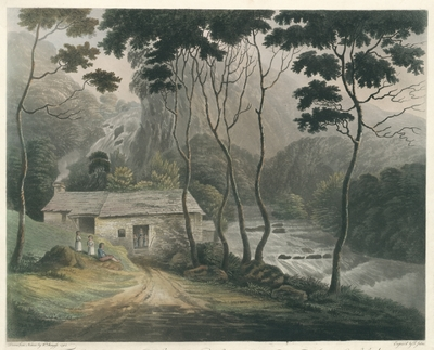 View of the Fall of Lowdore in Cumberland