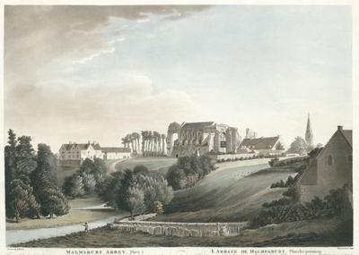 Malmsbury Abbey, Plate I. L'abbaye de Malmesbury, Planche premiere