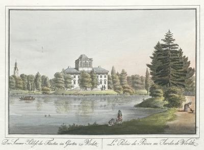 Image from object titled Das Sommer Schloss des Fürsten im Garten zu Wörlitz. Le Palais du Prince au Jardin de Wörlitz