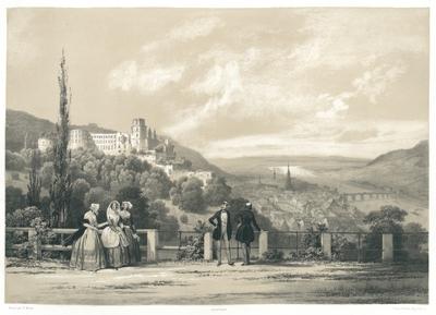 Heidelberg de la Terrasse du Château. Heidelberg von der Schloss Terrasse