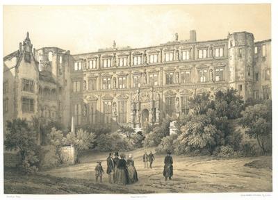 Palais d'Othon au Château d'Heidelberg. Der Otto-Heinrichsbau im Schlosse zu Heidelberg