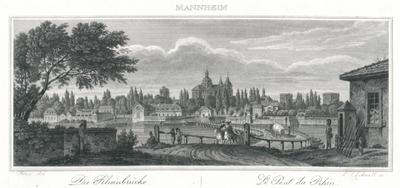 Mannheim. Die Rheinbrücke. Le Pont du Rhin