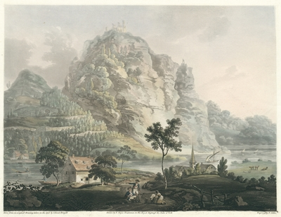 A view between Bonn and Remagen on the River Rhine