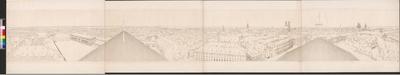 Panorama der Stadt München vom königlichen Hoftheater aus. [ Fing. Titel ]
