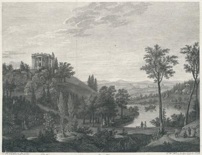 Vue du nouveau Chateau de Weisenstein du côté du Couchant