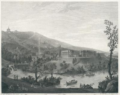 Vue du nouveau Chateau de Weisenstein du côté du Midi