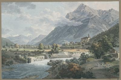 Vue du Chateau de Wimmisburg et des environs, Canton Berne