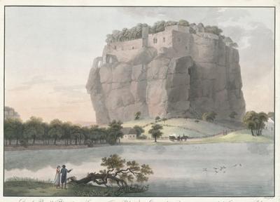 Das alte Bergschloss Birgstein im Leitmeritzer Kreis in Böhmen. Le vieux château de Birgstein au cercle de Leitmerizt (!) en Boheme