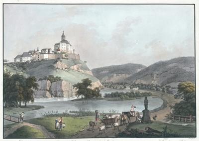 Das Schloss Friedland im Bunzlaur-Kreise in Böhmen. Le Château de Friedland, au cercle de Bunzlaur en Bohême