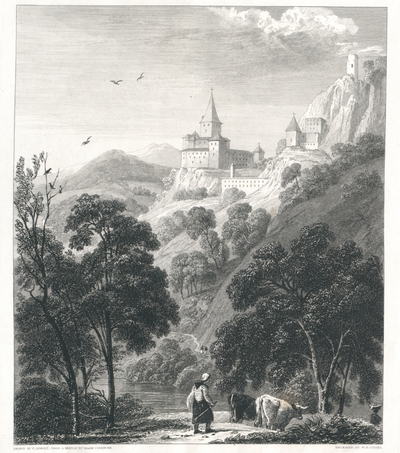 The Tyrol. Chateau near Collman, at the entrance of Grednerthal