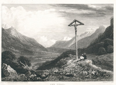 The Tyrol. Above Zerl, looking down the Valley of the Inn