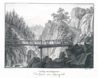 Image from object titled Eine Gegend am Lassingfalle. Unter Oesterreich