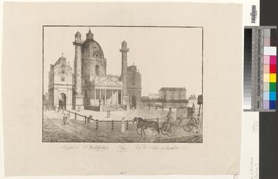 Ansicht der St. Karlskirche. Vue de l'Eglise St. Charles