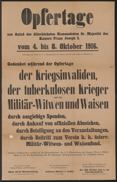 Image from object titled Opfertage - 4. bis 8. Oktober 1916