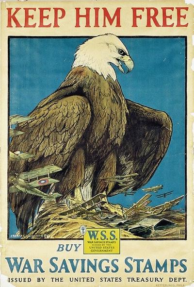 Keep him free - War saving stamps