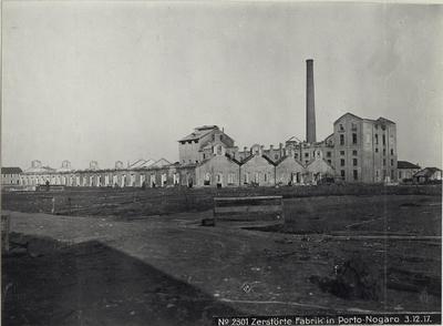 Image from object titled Zerstörte Fabrik in Porto-Nogaro 3.12.17.