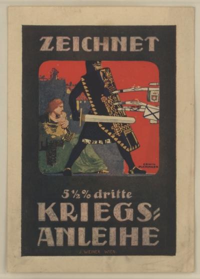 Reklame Kriegsanleihe - Kleinstgrafik